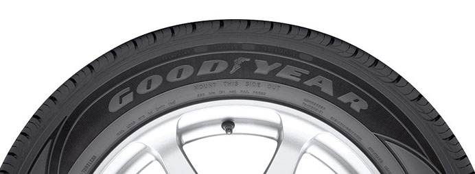 goodyear black sidewall tire